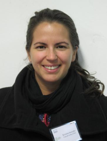 Kristina Samudio, représentante de la fondation chilienne Casa de la Paz