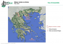 Localisation des régions minières visitées par SysExt (SystExt - novembre 2019 - CC BY NC SA 3.0 FR)