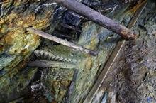 Dépilage dans une mine française abandonnée